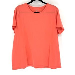 Lands' End Relaxed Coral Basic Shirt